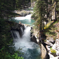 Un-named waterfalls of Johnston Creek in Johnston Canyon, Banff National Park.