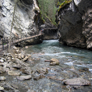 Johnston Creek in Johnston Canyon, Banff National Park.