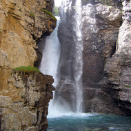 The Upper Falls of Johnston Creek in Johnston Canyon, Banff National Park.
