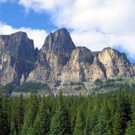 Castle Mountain in Banff National Park.