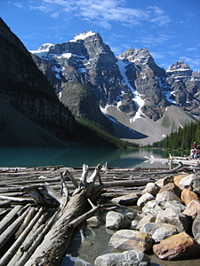 Thumbnail image ofMoraine Lake in Banff National Park from the outflow.