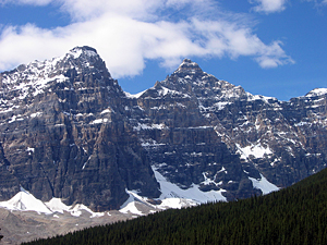 Thumbnail image ofSome of the mountains surrounding Moraine Lake...