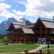 Lake Louise Mountain Resort in the summer.