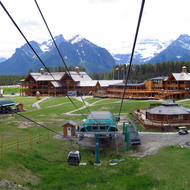 Lake Louise Mountain Resort from the chair lift.
