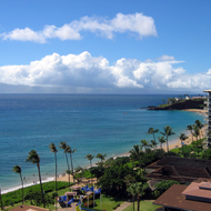 A view along Kaanapali beach from the Westin Maui.
