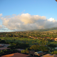 The near shore area along Kaanapali beach, as seen from the Westin Maui hotel.