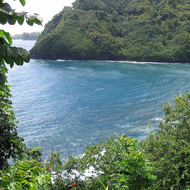 A bay along the Hana Highway on Maui.