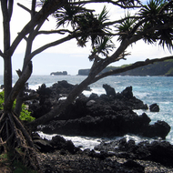 The Keanae Peninsula along the Hana Highway on Maui.