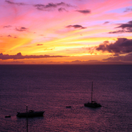 A Maui sunset at Kaanapali Beach, from the Westin Maui Resort.