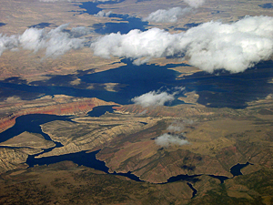 Thumbnail image ofAn aerial view of Flaming Gorge Reservoir.