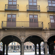 The entrance at the Poble Espanyol, built in 1920 for the Barcelona International Exhibition and now an architectural museum that highlights various Spanish architectural styles.