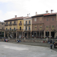 Buildings along the square at the Poble Espanyol.