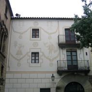 A building detail at the Poble Espanyol.