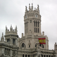The Palacio de Communicaciones in Madrid.