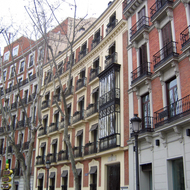 Buildings in Madrid.