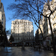A plaza in downtown Madrid