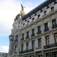 A beautiful building in downtown Madrid.