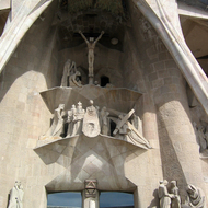 A view of the Glory Fa�ade of the church La Sagrada Familia.