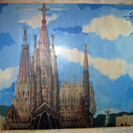 A rendering of what the finished La Sagrada Familia might look like.
