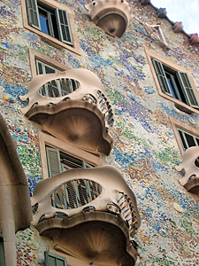 Thumbnail image ofA view of the exterior of the Casa Battlí, designed...
