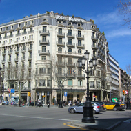 The Hotel Majestic in downtown Barcelona.