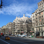 The Casa Mila in Barcelona by the famous architect Antoni Gaud�.