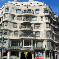 The Casa Mila in Barcelona by the famous architect Antoni Gaudí.