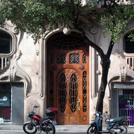 The door of the Casa Comalat in Barcelona.