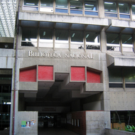 The Biblioteca Nacional de Venezuela -- The National Library of Venezuela in Caracas.