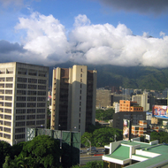 A view of Caracas, Venezuela, from the Intercontinental Tamanaco Hotel.