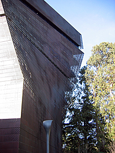 Thumbnail image ofA view of the DeYoung Museum in San Francisco's...