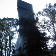 A view of the DeYoung Museum tower in San Francisco's Golden Gate Park.