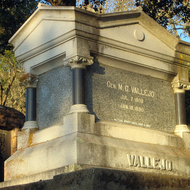 General Mariano G. Vallejo's tomb in the Sonoma, California cemetery.