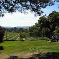 A view from the picnic area of Bartholomew Park Winery.