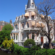 A house in Amsterdam across the canal from the Rijksmuseum.