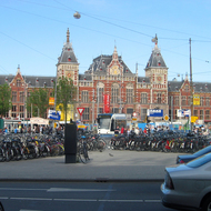 The Amsterdam Centraal Station.