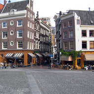 The cafe scene in Amsterdam.