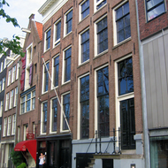 The exterior of the Anne Frank House and Museum.