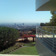 A view of Los Angeles (the Westwood area) from The Getty.