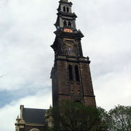 The WesterKerk steeple in Amsterdam.