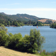 Spring Lake Park in Santa Rosa, California.