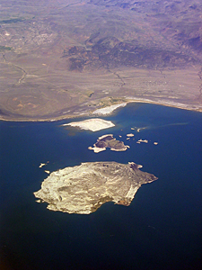 Thumbnail image ofA view of the islands in Mono Lake from a commercial...