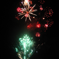 Fireworks on July 4, 2009 in Sonoma, California.