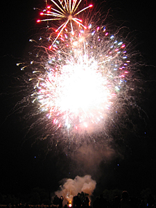 Thumbnail image ofFireworks on July 4, 2009 in Sonoma, California.