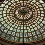 The dome of the former Chicago Public Library building, now the Chicago Cultural Center.