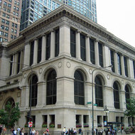 The exterior of the Chicago Cultural Center, formerly the Chicago Public Library.