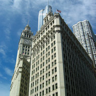 The Tribune Building in Chicago.