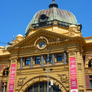 Flinders Street Station in downtown Melbourne.