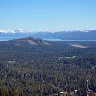 A view of Lake Tahoe from Highway 50.