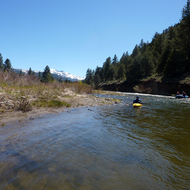 Rafting the East Fork of the Carson River below Markleeville, CA.